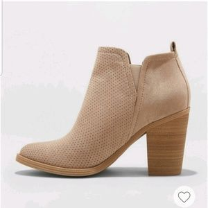 Microsuede Pull On Booties